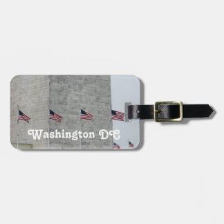 Monumento del Washington DC Etiquetas Para Equipaje