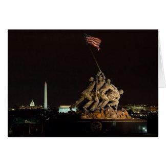 Monumento del Washington DC Tarjeta