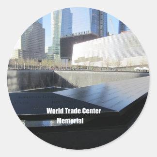 Monumento del World Trade Center, New York City Pegatina Redonda