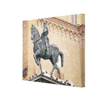Monumento ecuestre de Bartolommeo Colleoni (1400- Impresion De Lienzo
