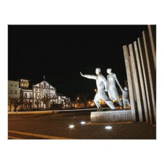 """Monumento en Ponta Delgada Azores Folleto 8.5"""" X 11"""""""