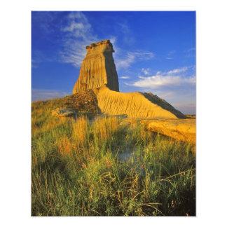 Monumento erosionado en el pequeño Missouri Fotografías