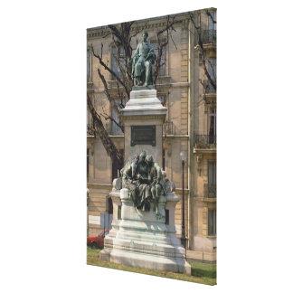 Monumento franceses del pere de Alexander Dumas a  Impresión En Lona Estirada
