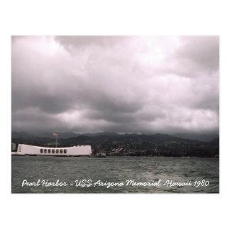 Monumento Hawaii de USS Arizona del Pearl Harbor Tarjeta Postal