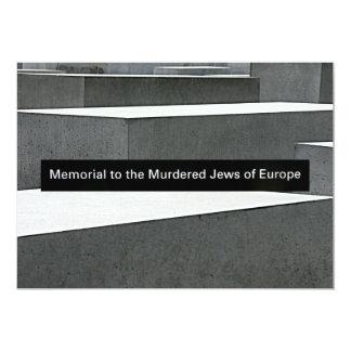 """Monumento judío del holocausto (Denkmal), Berlín, Invitación 5"""" X 7"""""""