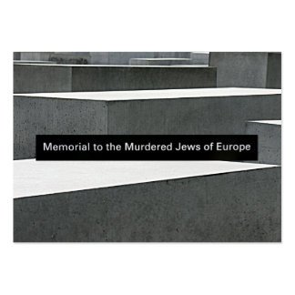 Monumento judío del holocausto (Denkmal), Berlín,  Tarjeta Personal
