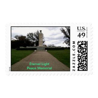 Monumento ligero eterno de la paz sello