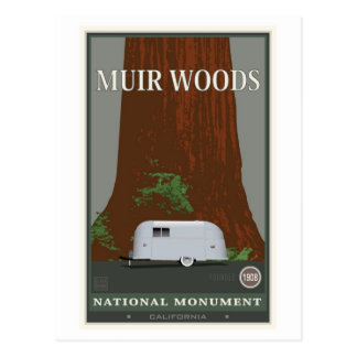 Monumento nacional 1 de maderas de Muir Postal