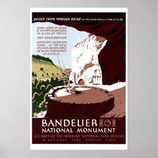 Monumento nacional de Bandelier Póster