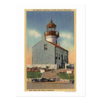 Monumento nacional de Cabrillo, faro del Point Tarjetas Postales