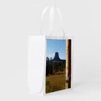 Monumento nacional de la torre de los diablos bolsa reutilizable
