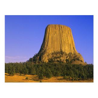 Monumento nacional de la torre de los diablos en postal