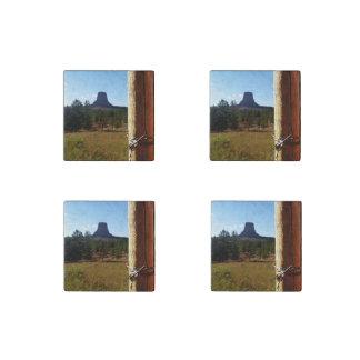 Monumento nacional de la torre de los diablos imán de piedra