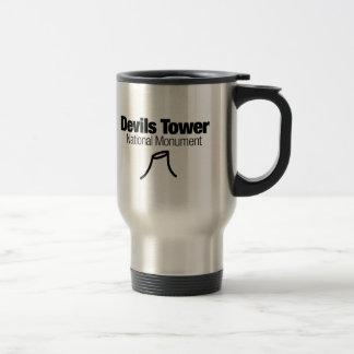 Monumento nacional de la torre de los diablos taza de viaje