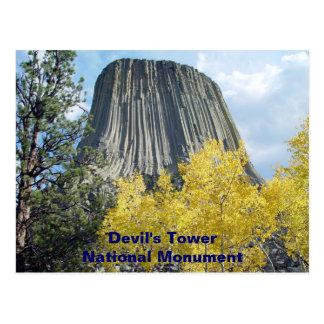 Monumento nacional de la torre del diablo postal