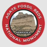 Monumento nacional de las camas fósiles de la pegatina redonda