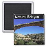 Monumento nacional de los puentes naturales imán para frigorífico