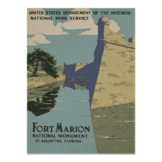 Monumento nacional de Marion del fuerte grande Póster