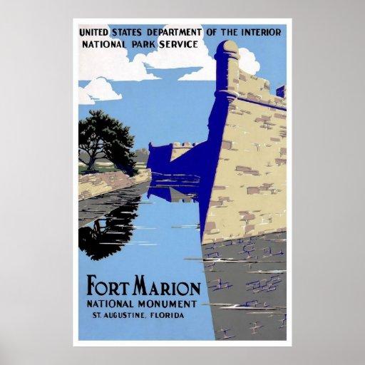 Monumento nacional St Augustine la Florida de Mari Impresiones