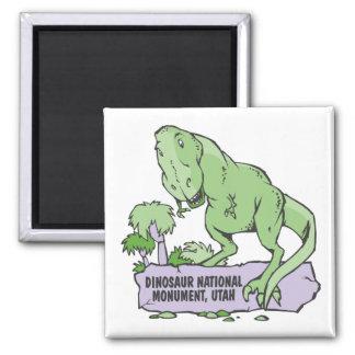 Monumento nacional Utah del dinosaurio Imán Cuadrado