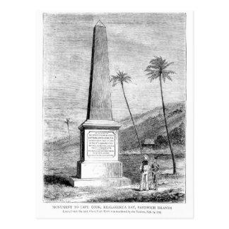 Monumento para captain a James Cook Postal