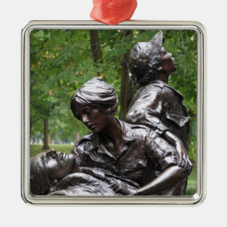 Monumento para mujer de Vietnam Adorno Navideño Cuadrado De Metal