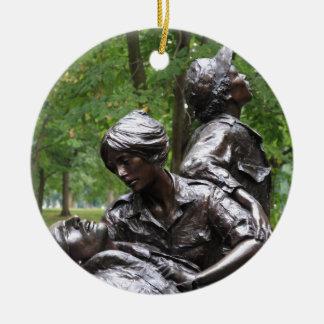 Monumento para mujer de Vietnam Adorno Navideño Redondo De Cerámica