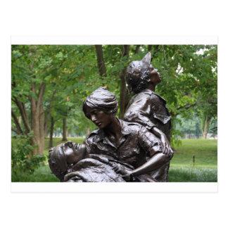 Monumento para mujer de Vietnam Tarjetas Postales