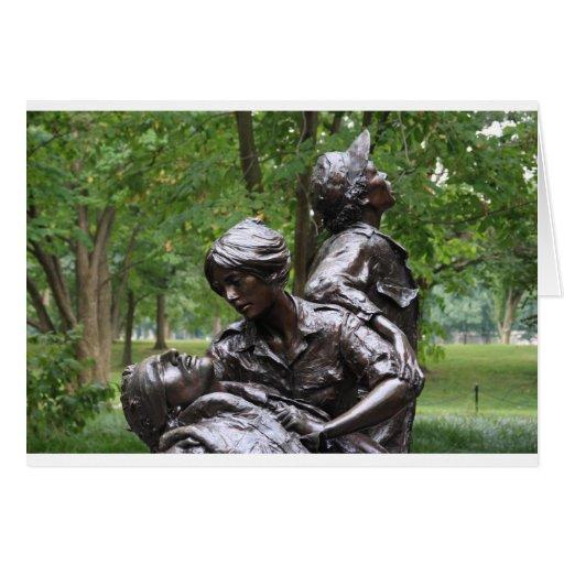 Monumento para mujer de Vietnam Tarjeton