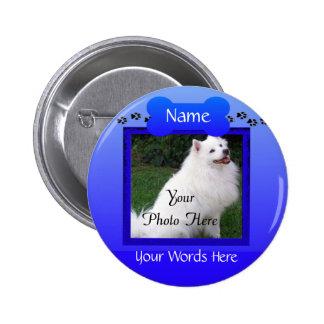 Monumento para siempre recordado del perro o del pin redondo de 2 pulgadas