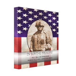 Monumento personalizado personalizado militar patr impresion de lienzo
