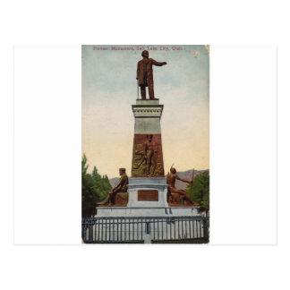 Monumento pionero, Salt Lake City Tarjeta Postal