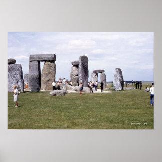 Monumento prehistórico 1960 de Stonehenge Póster