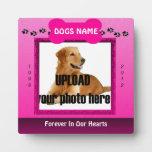 Monumento rosado femenino del perro placas para mostrar