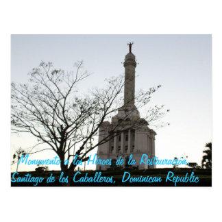 Monumento un los Héroes de la Restauración, Santia Postal