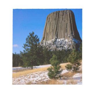 Monumento Wyoming de la torre de los diablos del p Bloc De Papel