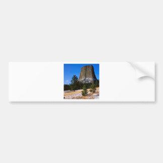 Monumento Wyoming de la torre de los diablos del p Etiqueta De Parachoque