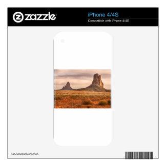 Monumentos de Kayenta de la nación de Navajo iPhone 4S Calcomanía
