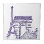 Monumentos de Paris Azulejo De Cerâmica