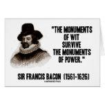 Monumentos de sir Francis Bacon del ingenio de la  Tarjetón