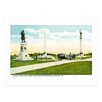 Monuments at Antietam, Maryland Postcard