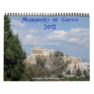 Monuments of Greece Wall Calendars
