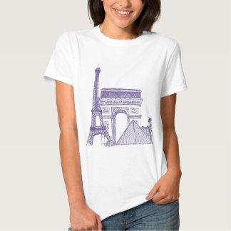 Monuments of Paris T Shirt