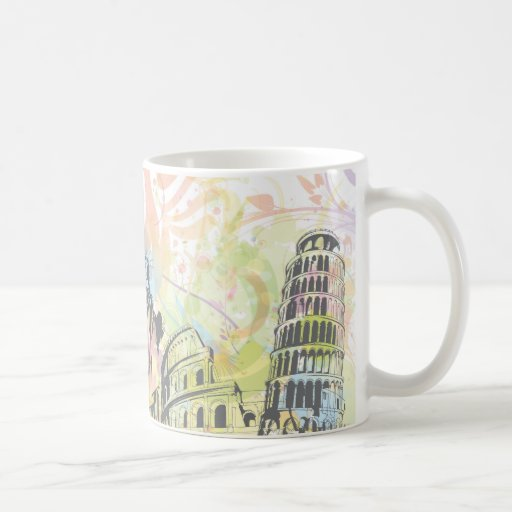 Monuments of the world coffee mugs
