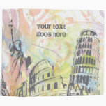 Monuments of the world custom photo binder