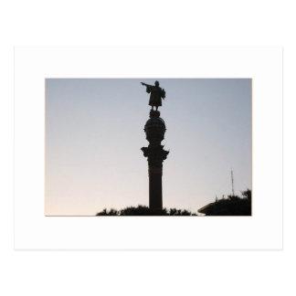 Monumtento un Colón, Barcelona Tarjeta Postal