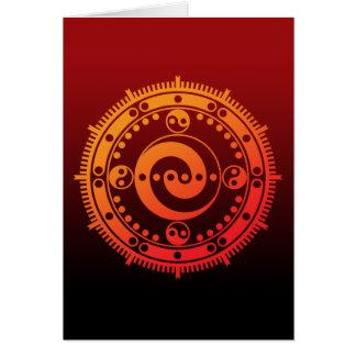 Monyou 11 greeting card