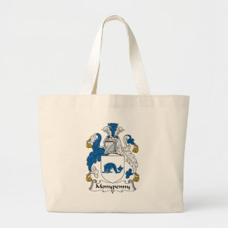 Monypenny Family Crest Large Tote Bag