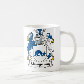 Monypenny Family Crest Classic White Coffee Mug