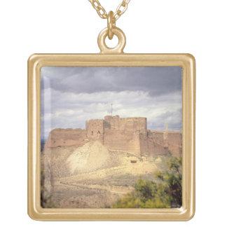 Monzon Castle, where King James spent his infancy, Square Pendant Necklace